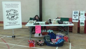 Saoirse manning the BAR stand at the Canine Buddies Dog Show in Loughrea