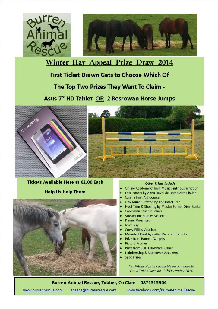 Winter Hay Appeal Draw Poster 2014