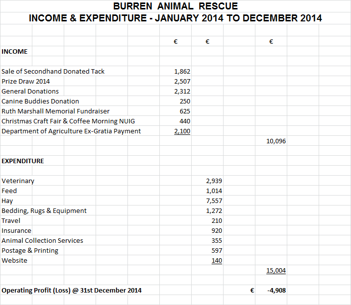 BAR Income & Expenditure 2014
